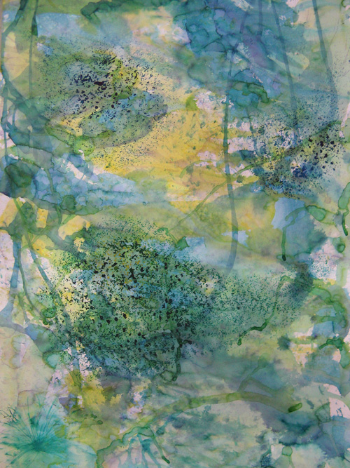 © Wilhelm Roseneder. Blaue Invasion/Blue invasion, 2005. Aquarell, Chinatusche auf Papier /Watercolour, Chinese ink on paper,  1.50x1.10 cm
