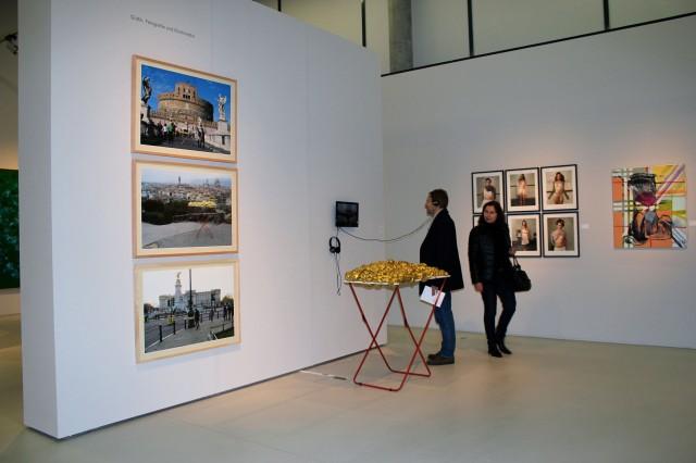 © Wilhelm Roseneder, Renate Egger. Goldene Erweiterung/Golden expansion. Schnittpunkt Burgenland. Landesgalerie Burgenland. Eisenstadt, Burgenland, Austria 2012-2013