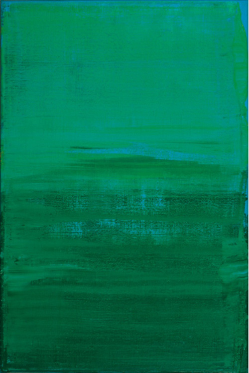© Wilhelm Roseneder. Grün, Blau, Gelb/Green, Blue, Yellow, 2003. Öl auf Leinen/Oil on canvas, 60x40 cm