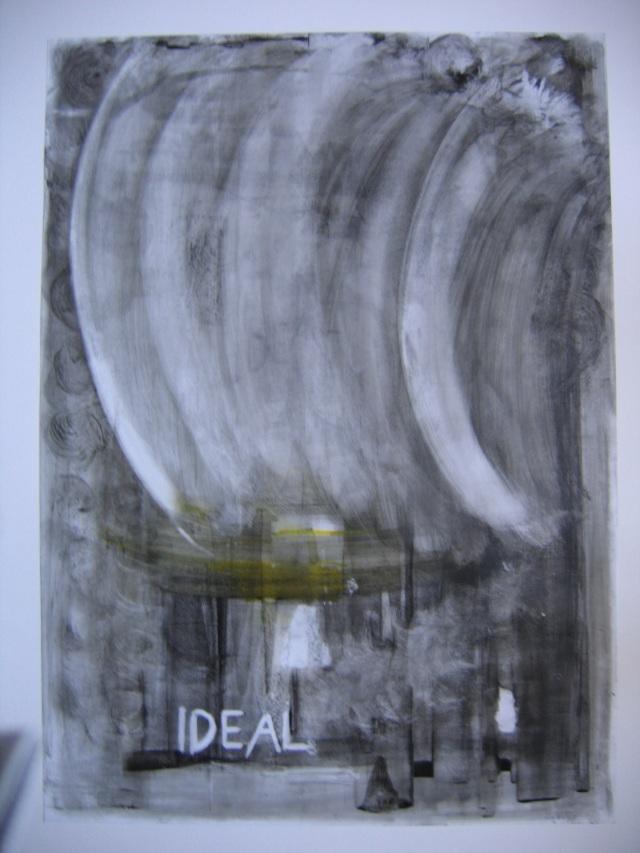 © Wilhelm Roseneder. Ideal. 1990. Glasochrom auf Paraffinpapier/Glasochrom on paraffin-paper, 63x45,5 cm