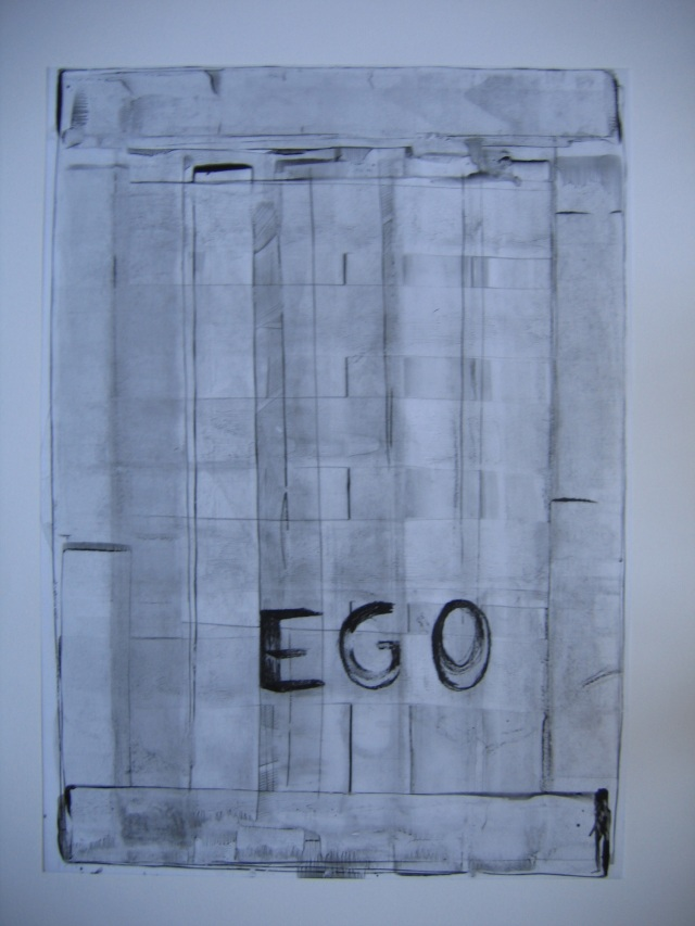 © Wilhelm Roseneder. Ego. 1990. Glasochrom auf Paraffinpapier/Glasochrom on paraffin-paper, 63x45,5 cm