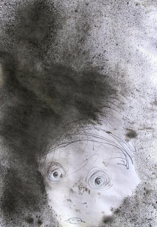 © Wilhelm Roseneder. Gnom/Gnome, 2011. Zeichnung. Graphit, chinesische Tusche/Drawing. Graphite, Chinese ink, 14,6x20,9 cm