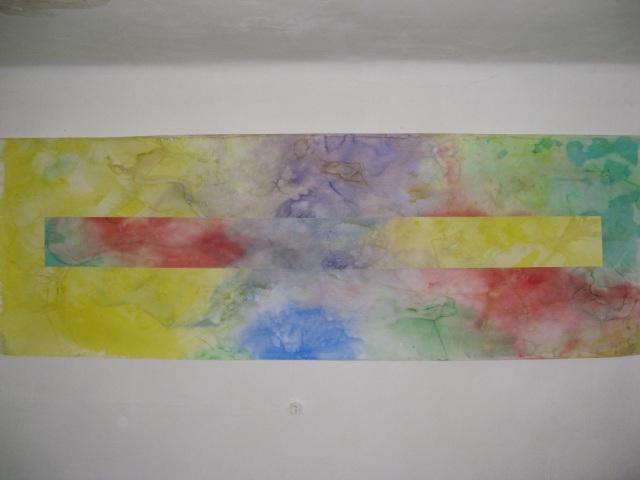 © Wilhelm Roseneder. Pilastro, 2005. Aquarell auf Papier/Watercolour on paper, 4.00x1.10 m. Artfarm Pilastro. Pilastro di Bonavigo, Verona, Italy