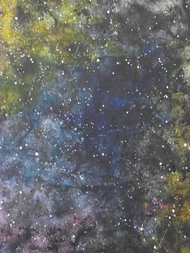 © Wilhelm Roseneder. Sternenbild I/Constellation I, 2010. Aquarell, Tusche, Chinesische Tusche, 2.00x1.50 m