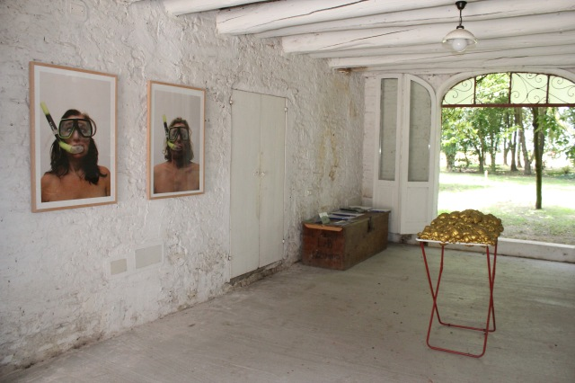 © Wilhelm Roseneder. Renate 549, 2009. Wilhelm 571, 2009. Goldene Erweiterung/Golden expansion, 2005/2007. Artfarm Pilastro. Pilastro di Bonavigo. Verona, Italy 2012