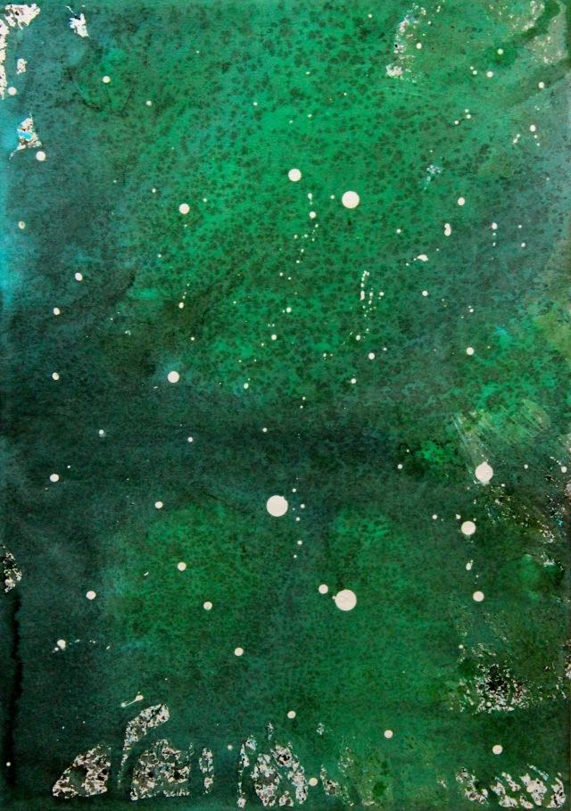 © Wilhelm Roseneder. Sternenbild /Constellation Nr. 4160710, 2010. Aquarell, Tusche, chinesische Reibtusche/Watercolour, ink, Chinese ink, 34x23.9 cm