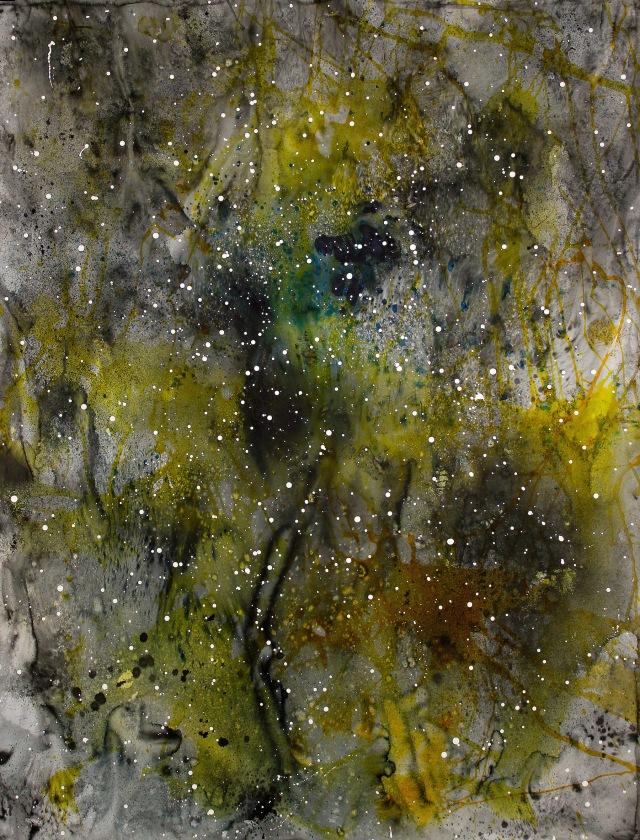 © Wilhelm Roseneder. Sternenbild /Constellation Nr.9150610, 2010. Aquarell, Tusche, chinesische Reibtusche/Watercolour, ink, Chinese ink, 1.99x1,52 cm