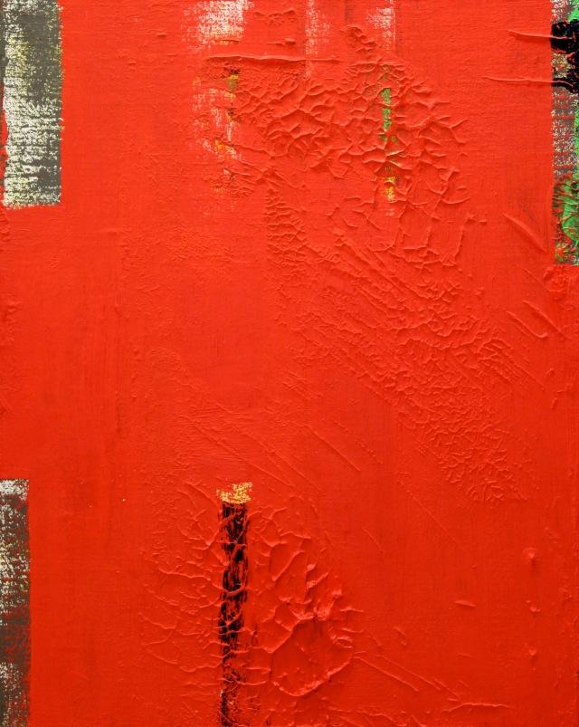 © Wilhelm Roseneder. Azraq, 2002. Öl auf Leinen, Karton/Oil on canvas, cardboard, 41,5x32,8cm