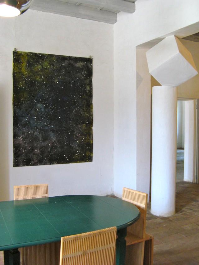 © Wilhelm Roseneder. Sternenbild I/Constellation I, 2010. Aquarell, Tusche, chinesische Reibtusche/Watercolour, ink, Chinese ink, 2.00x1,50 m.  Artfarm Pilastro. Pilastro di Bonavigo, Verona, Italy 2011