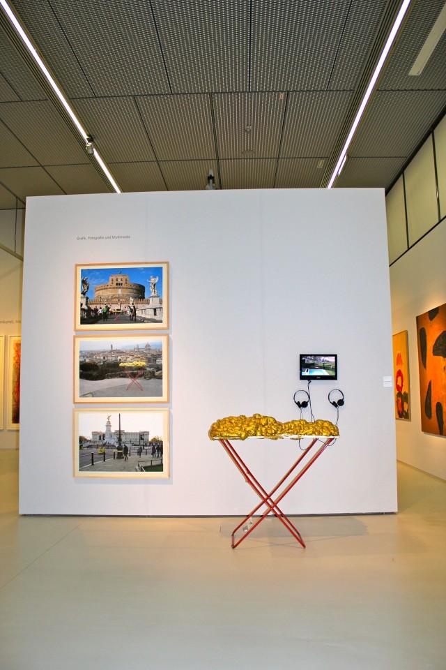 © Wilhelm Roseneder, Renate Egger. Goldene Erweiterung/Golden expansion. Schnittpunkt Burgenland. Wege der Kunst ins 21. Jahrhundert. Landesgalerie Burgenland. Eisenstadt, Burgenland, Austria 2012-2013