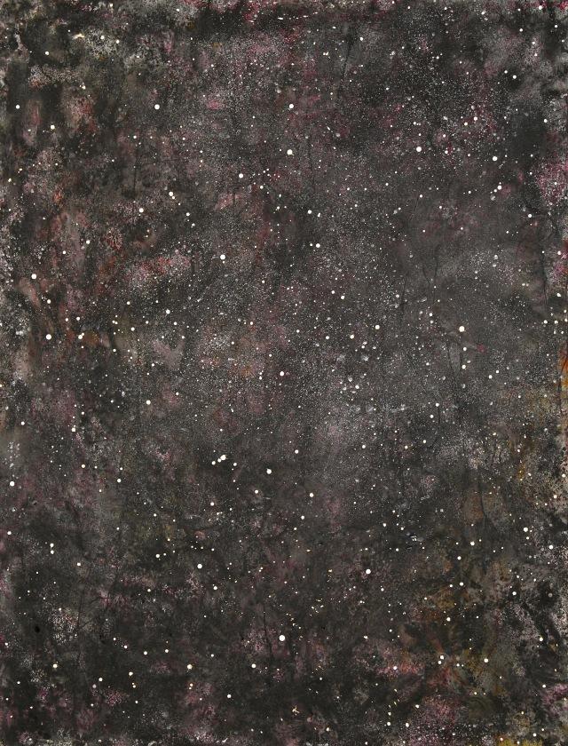 © Wilhelm Roseneder. Sternenbild /Constellation Nr. 4050610, 2010. Aquarell, Tusche, chinesische Reibtusche auf Papier/Watercolour, ink, chinese ink on paper, 1.99x1.52 cm