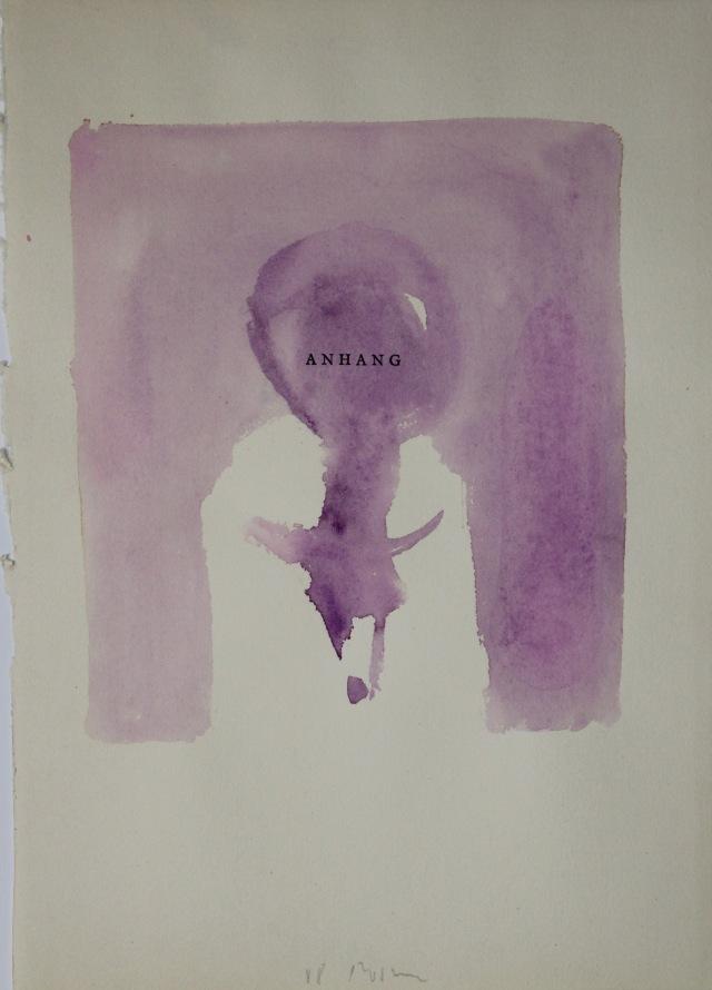 © Wilhelm Roseneder. Anhang, 1988. Aquarell auf Papier, 28,6x20,3cm