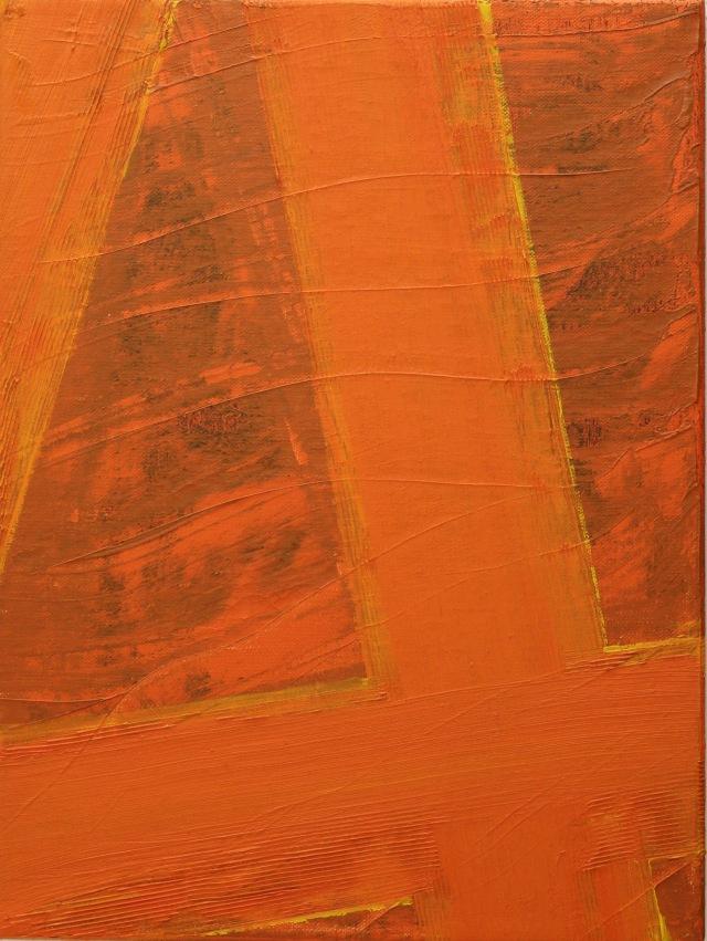 © Wilhelm Roseneder. Kreuzung I, 1996. Öl auf Leinwand/Oil on canvas, 40x70 cm
