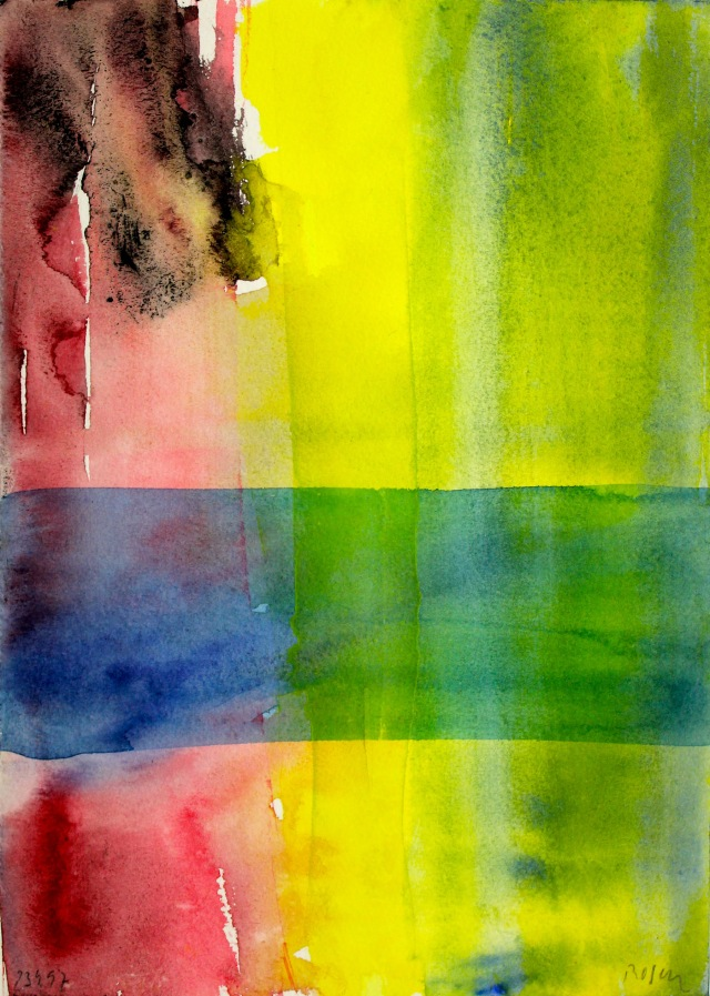 © Wilhelm Roseneder. Aquarell auf Papier/Watercolor on paper, 1997. 34x24 cm