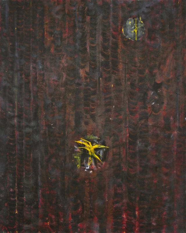 © Wilhelm Roseneder. Spiritus africus, 1991, Öl auf Leinen/Oil on canvas, 150x120cm