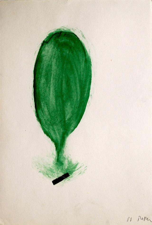 © Wilhelm Roseneder. Zartes Grün/Delicate green, 1988. Ölpastell auf Papier/Oil pastel on paper, 27x18,5cm