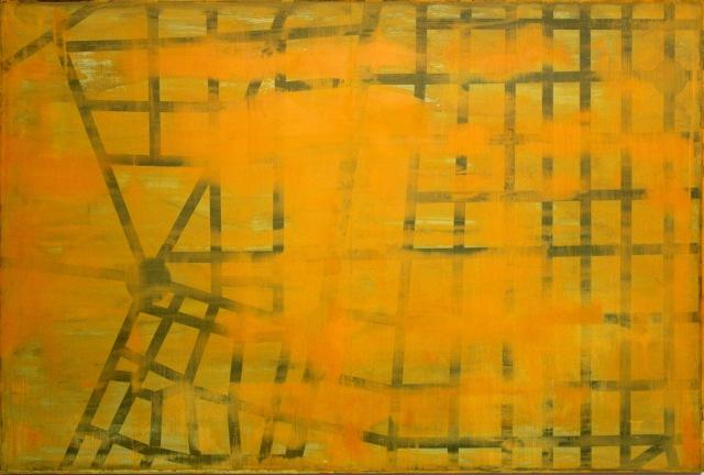 © Wilhelm Roseneder. Guides, Madrid, 1998-2003. Ölmalerei auf Aluminium/Oil painting on aluminium, 104x155 cm