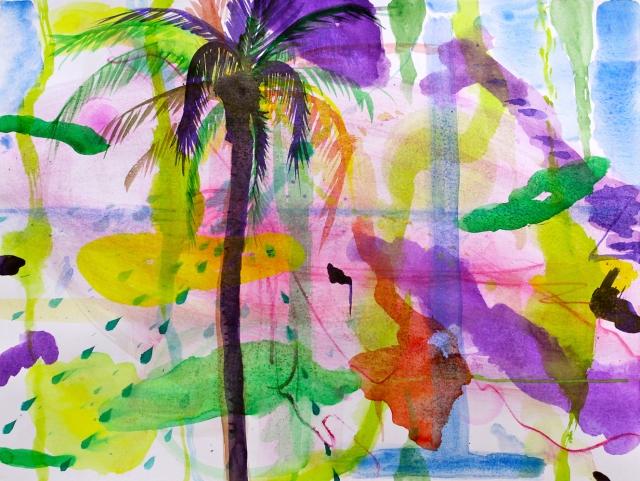 © Wilhelm Roseneder. Octopus dream I, 2015. Jambiani, Zanzibar, Africa Aquarell auf Papier/Watercolor on paper, 26,8x36 cm