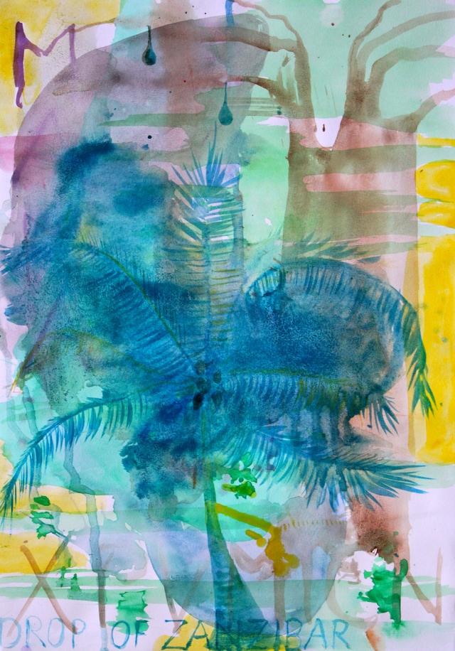 © Wilhelm Roseneder, Drop of Zanzibar II, 2015. Aquarell auf Papier/Watercolour on paper, 42 x 29,5 cm