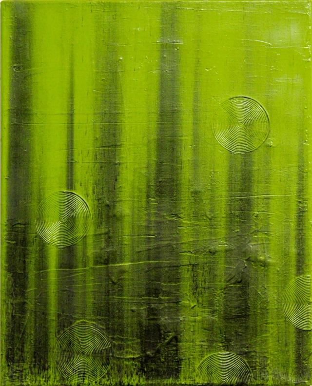 © Wilhelm Roseneder. Grünes Stück/Green piece, 1997. Öl, Graphit auf Leinen/Oil, graphit on linen, 50x40cm