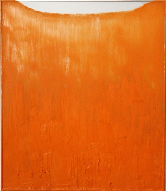 © Wilhelm Roseneder. Kadmiumorange dunkel, 2002. Öl auf Spiegel/Oil on mirror, 70x60cm